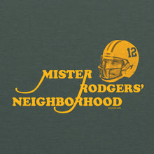 Load image into Gallery viewer, Mr. Rodger's Neighborhood Ladies Scoop Neck Tee - Heather Forest