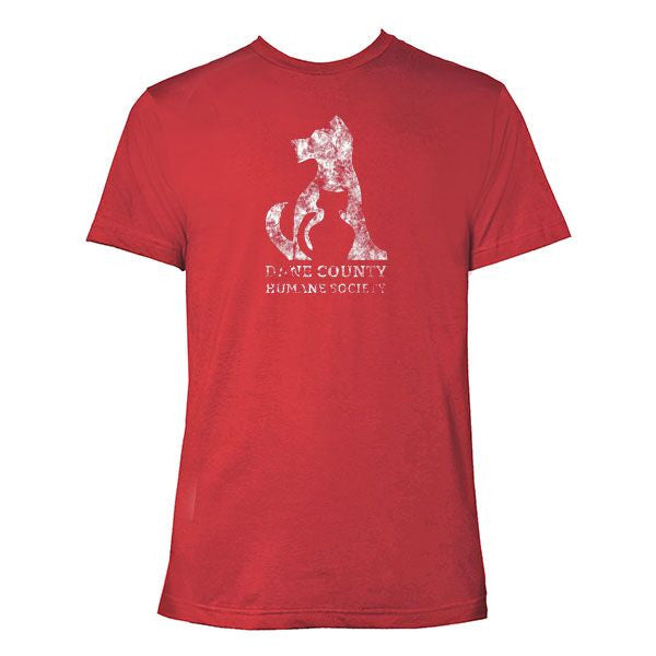 Sconnie Dane County Humane Society Premium T-shirt - Heather Red
