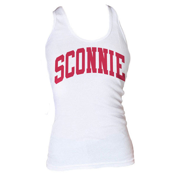 Women's Sconnie Ribbed Tank Top - White
