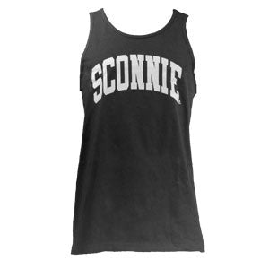 Sconnie Unisex Reversible Mesh Jersey Tank Top - Black