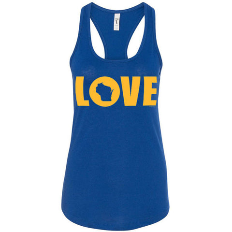 Love WI Ideal Racerback Tank - Royal