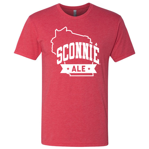 Sconnie Ale Tri-Blend T-shirt - Vintage Red
