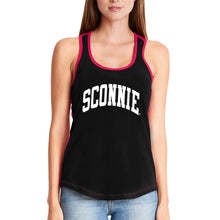 Load image into Gallery viewer, Sconnie Womens Colorblock Racerback Tank - Black/Red