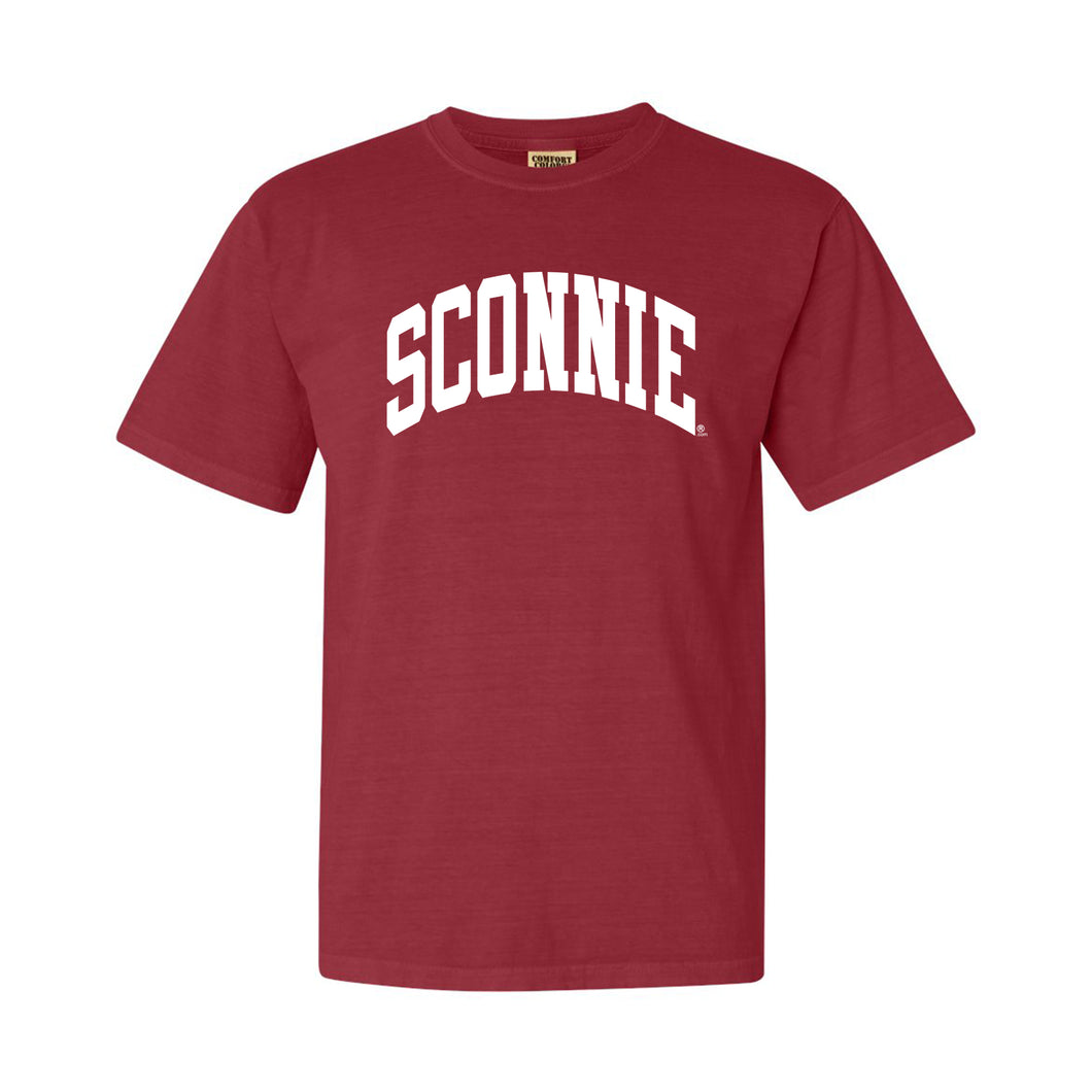 Sconnie Arch Comfort Colors Short Sleeve - Crimson