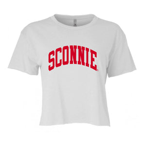 Sconnie Festival Women's Cali Crop Tee - White