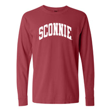 Load image into Gallery viewer, Sconnie Arch Comfort Colors Long Sleeve - Crimson