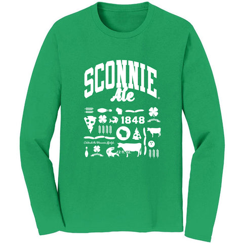 Sconnie Ale Clover Crew - Heather Green