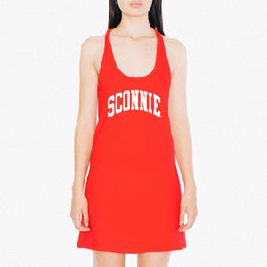 Sconnie Am App Shirt Dress - Red
