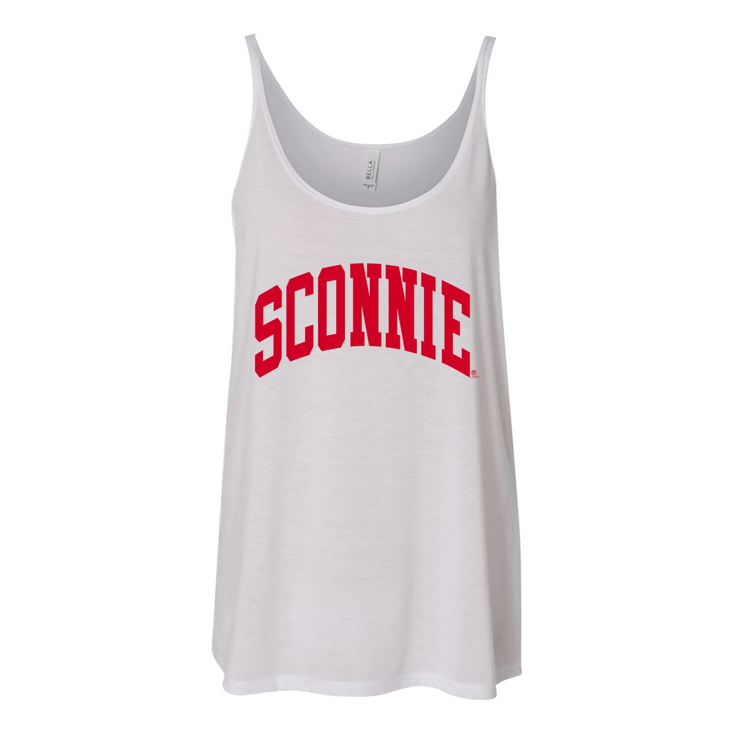 Sconnie Arch Slouchy Tank - White