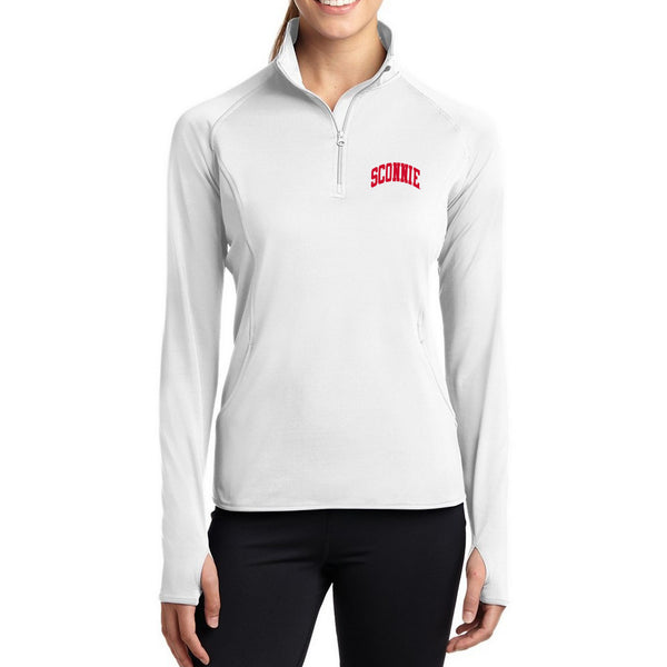 Sconnie Ladies Yoga 1/4 Zip - White