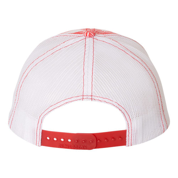 Sconnie Arch Island Print Hat - Red/White