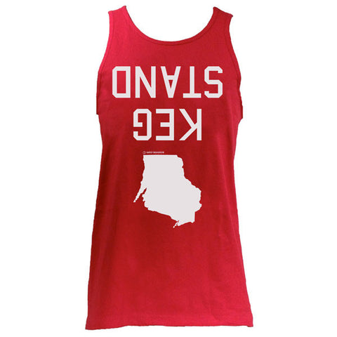 Keg Stand Unisex Tank Top - Red