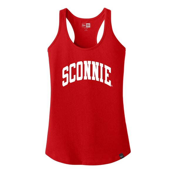 Sconnie Arch New Era Ladies Racerback Tank - Red