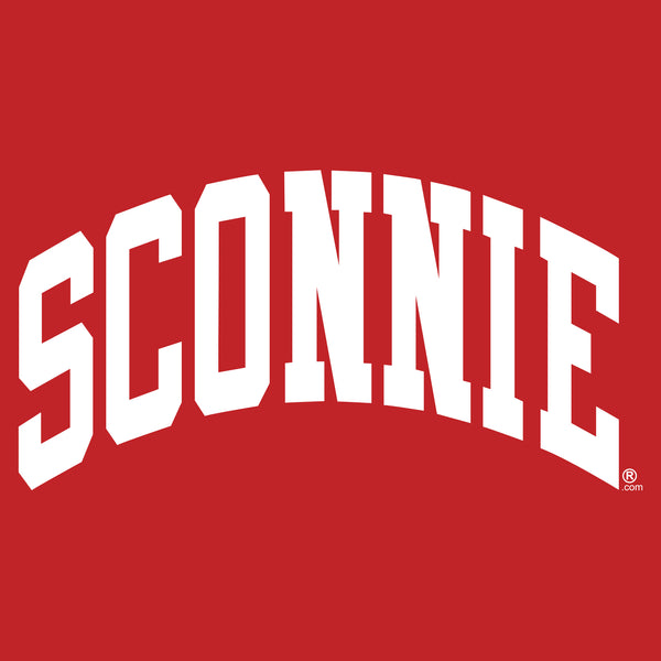 Sconnie Arch New Era Ladies Performance Scoop Tee - Scarlet