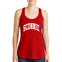 Load image into Gallery viewer, Sconnie Arch New Era Ladies Racerback Tank - Red