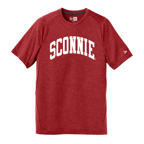 Sconnie Arch New Era Performance T Shirt - Red