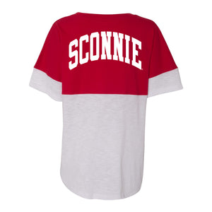 Sconnie Short Sleeve Pom Pom Jersey - Red/White