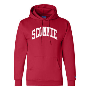 Sconnie Arch Champion Hoodie - Red