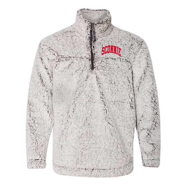 Sconnie Arch LC Womens Sherpa Q-Zip - Smokey Grey