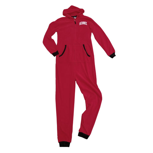 Sconnie Fleece Union Suit - Red