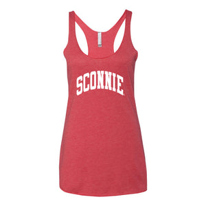 Sconnie Womens Triblend Racerback Tank - Vintage Red