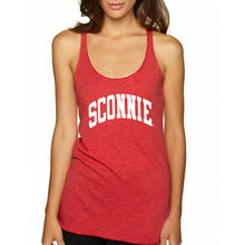 Load image into Gallery viewer, Sconnie Womens Triblend Racerback Tank - Vintage Red