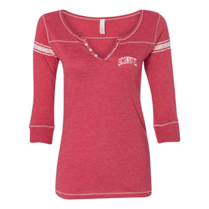 Sconnie Vintage Left Chest Hailey Henley - Red