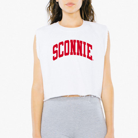 Sconnie Arch Am App Womens Heavy Terry Dance Top - White