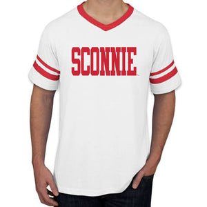Sconnie Striped Sleeve T-shirt - White