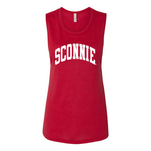 Sconnie Arch Flowy Scoop Muscle Tank - Red