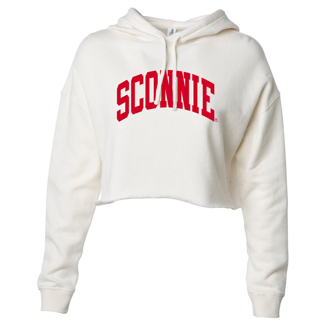Sconnie Arch Womens Lightweight Crop Hoodie - Bone