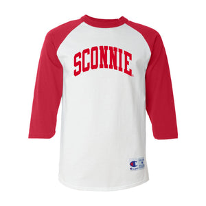 Sconnie 3/4 Sleeve Baseball Tee - White/Red