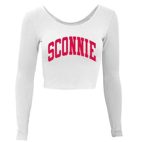 Sconnie Long Sleeve Crop Top - White