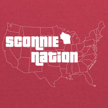 Load image into Gallery viewer, Sconnie Nation Tri-Blend T-shirt - Vintage Red