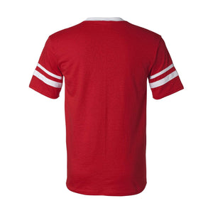 Sconnie Striped Sleeve T-shirt - Red