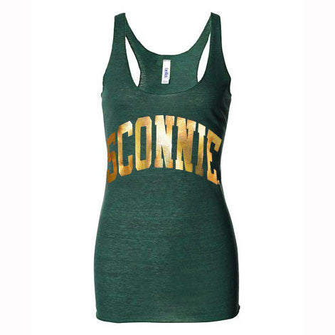 Sconnie Foil Tri-Blend Racerback Tank Top - Emerald