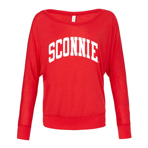 Sconnie Long Sleeve Dolman - Red