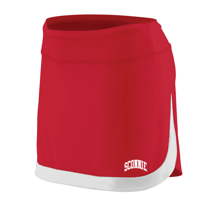 Sconnie Action Color Block Skort - Red/White