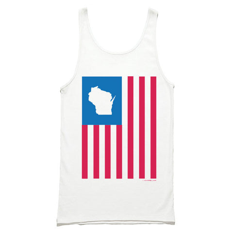 Wisconsin States of America Unisex Tank Top - White
