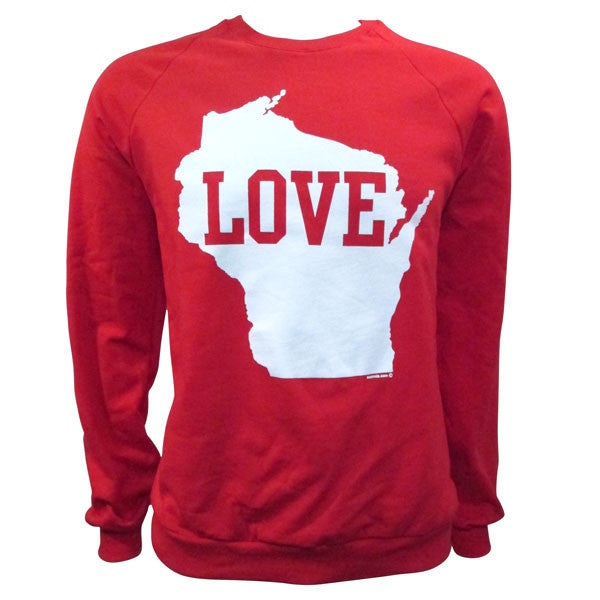 WI Love Premium Fleece Crewneck Sweatshirt