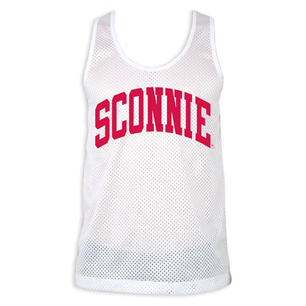 Original Sconnie Poly Mesh Tank - White