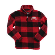 Load image into Gallery viewer, Sconnie Arch LC Sherpa Q-Zip - Red/Black Buffalo Plaid