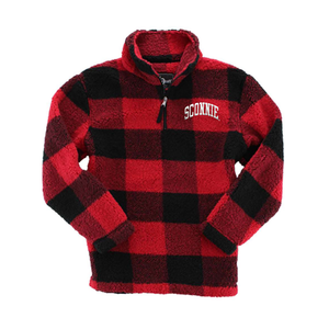 Sconnie Arch LC Sherpa Q-Zip - Red/Black Buffalo Plaid