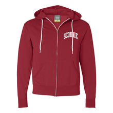 Load image into Gallery viewer, Sconnie Independent Zip Hoodie - Red