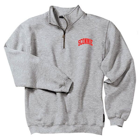 Sconnie Quarter-Zip Pullover - Heather Grey