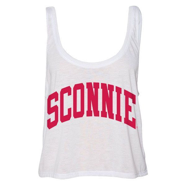 Sconnie Flowy Boxy Tank - White