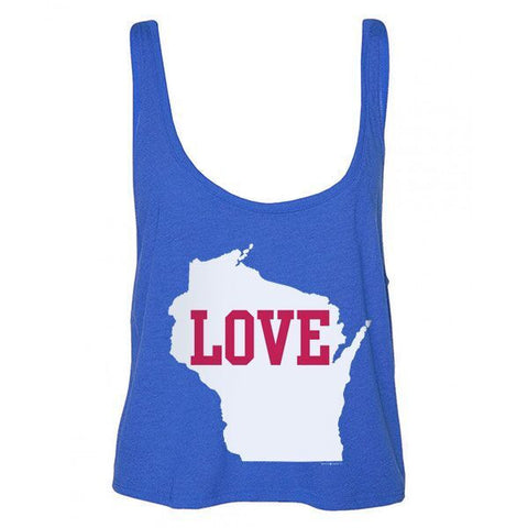 WI Love Boxy Tank - Royal/White