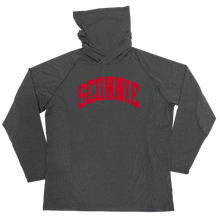 Load image into Gallery viewer, Sconnie Arch Hoodie Mask Adult Longsleeve Performance Shirt - Grey