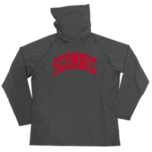 Sconnie Arch Hoodie Mask Adult Longsleeve Performance Shirt - Grey
