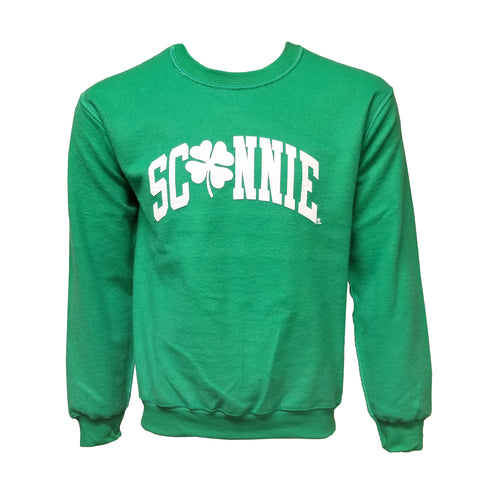 Sconnie Clover Inside Out Crewneck - Irish Green